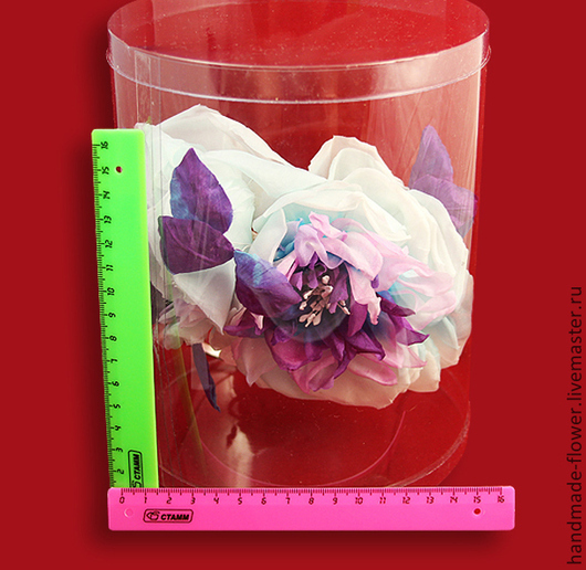 Коробочка круглая(пластик) Размер 16*20 см. Производство Россия