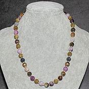 handmade. Livemaster - original item New! Natural Tourmaline Beads with Cut. Handmade.