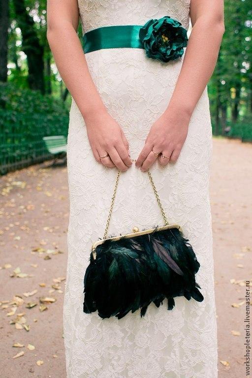 Пояса, ремни ручной работы. Ярмарка Мастеров - ручная работа. Купить Пояс для свадебного или вечернего платья. Handmade. Изумрудный