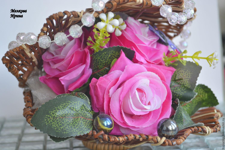 Ракушки с цветами фото