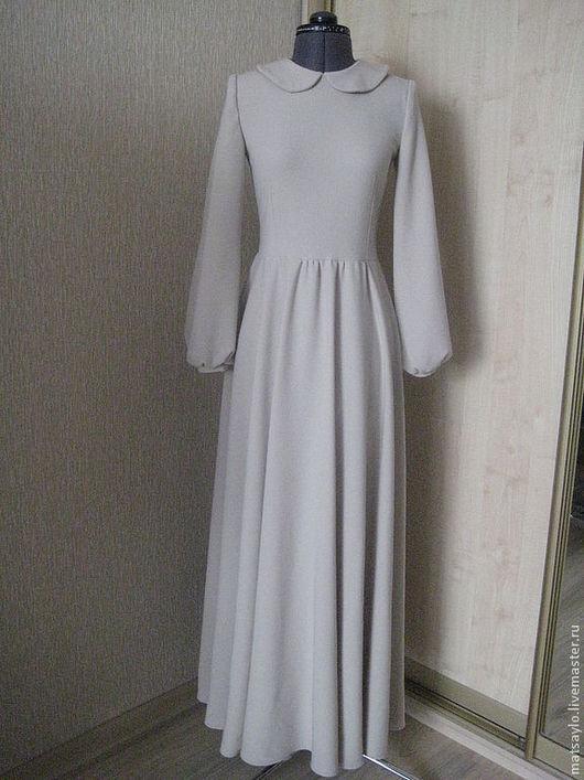 Платья ручной работы. Ярмарка Мастеров - ручная работа. Купить Платье в русском стиле. Handmade. Бежевый, платье в пол