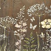 """Картины и панно ручной работы. Ярмарка Мастеров - ручная работа Декоративное панно  """" Паучок и лунный свет """",ручная роспись. Handmade."""
