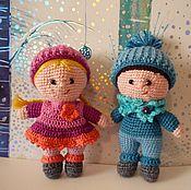 Мягкие игрушки ручной работы. Ярмарка Мастеров - ручная работа Кукла вязаная крючком. Handmade.