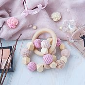 Куклы и игрушки handmade. Livemaster - original item Teething toy, teething toy-teether
