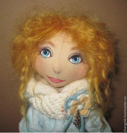 Коллекционные куклы ручной работы. Ярмарка Мастеров - ручная работа. Купить Снежана-интерьерная текстильная кукла. Handmade. Рыжий