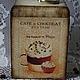 """Кухня ручной работы. Короб для хранения """"Cafe de Paris"""". Некрасова Екатерина (katxarina). Ярмарка Мастеров. Короб для хранения"""