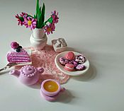 """Куклы и игрушки ручной работы. Ярмарка Мастеров - ручная работа миниатюрный набор """"Розовое настроение"""". Handmade."""