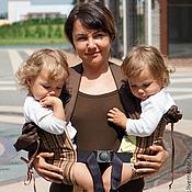 Одежда ручной работы. Ярмарка Мастеров - ручная работа Эргономичный рюкзак для двойни. Handmade.
