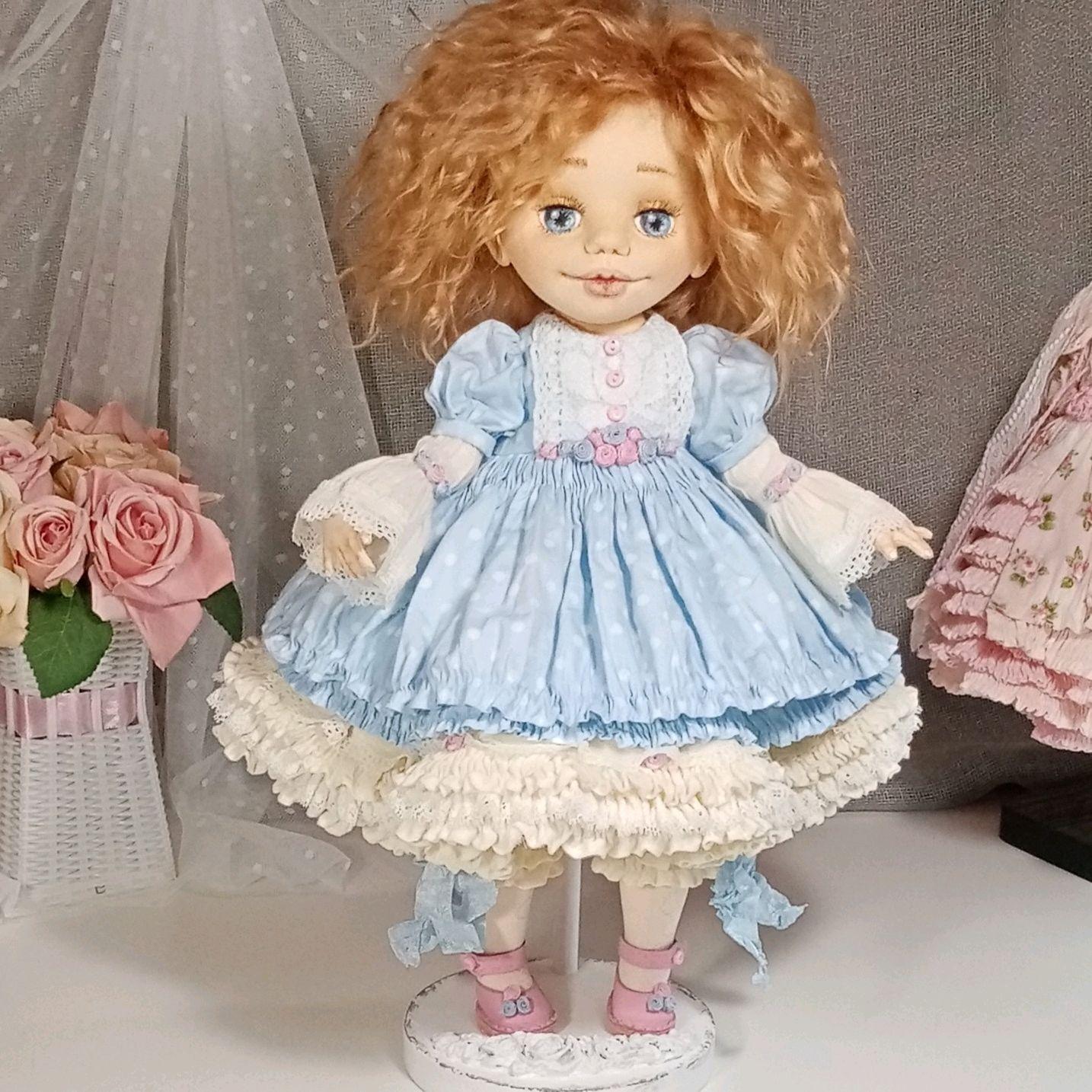 Коллекционная текстильная кукла Лия!, Куклы и пупсы, Волгоград,  Фото №1