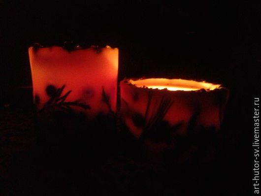 """Свечи ручной работы. Ярмарка Мастеров - ручная работа. Купить Ароматическая свеча из соевого воска """"Розовый вечер"""". Эко-свеча. Handmade."""