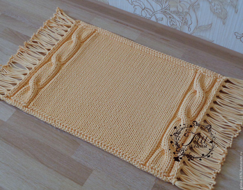 вязаный коврик нежность купить в интернет магазине на ярмарке мастеров с