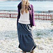 Одежда ручной работы. Ярмарка Мастеров - ручная работа Длинная шерстяная юбка. Handmade.