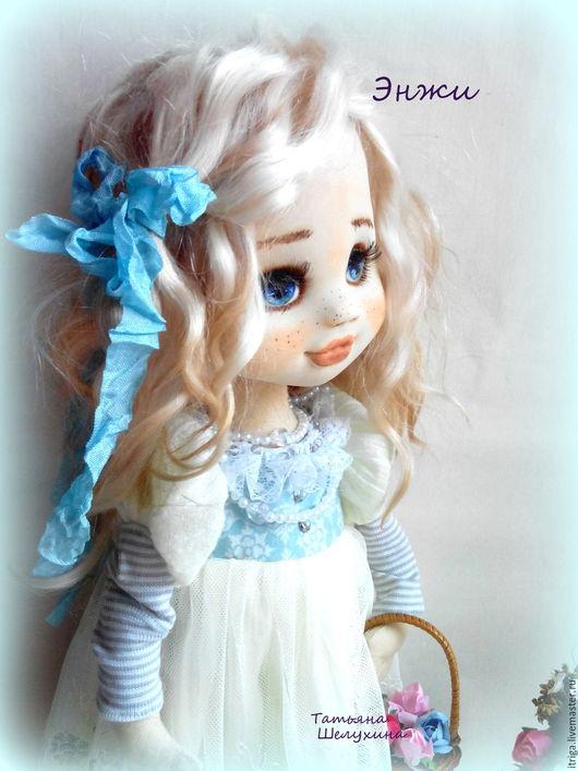 Коллекционные куклы ручной работы. Ярмарка Мастеров - ручная работа. Купить Энжи. Handmade. Кукла, куколка, подарок подруге, текстиль