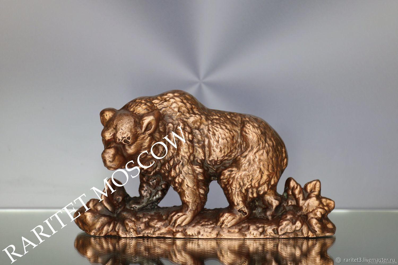 Винтаж: Медведь статуэтка панно медь Канада 26, Винтажные предметы интерьера, Москва,  Фото №1