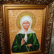 Картины и панно handmade. Livemaster - original item The icon of St. blessed Matrona of Moscow. Handmade.