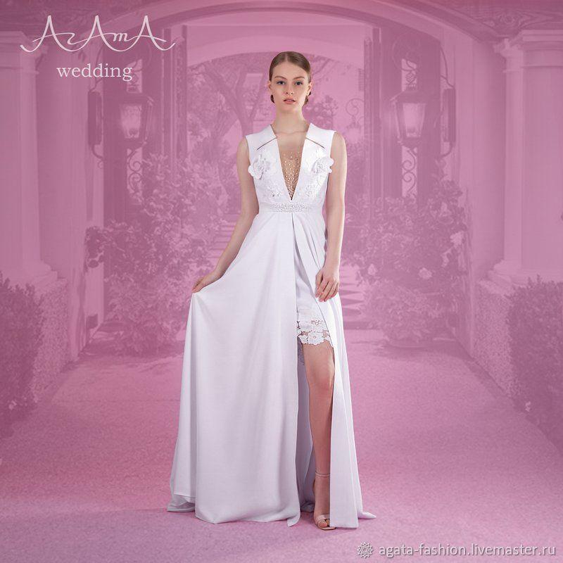 """Свадебное платье, с ручной вышивкой от """"АгАтА"""", Платья свадебные, Сочи,  Фото №1"""