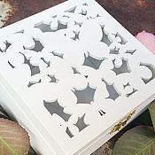 Свадебный салон ручной работы. Ярмарка Мастеров - ручная работа Шкатулка для колец «Бабочки». Handmade.