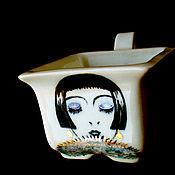 Посуда ручной работы. Ярмарка Мастеров - ручная работа чайная пара с росписью в стиле Ар-деко. Handmade.