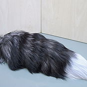 Материалы для творчества handmade. Livemaster - original item Gorgeous silver Fox tails. Fur accessories.. Handmade.