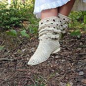 """Обувь ручной работы. Ярмарка Мастеров - ручная работа Сапоги льняные """"Эко """". Handmade."""
