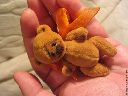 Мишки Тедди ручной работы. Ярмарка Мастеров - ручная работа. Купить Бёрти. Handmade. Рыжий, миниатюрный мишка, коллекционные медведи