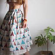"""Одежда ручной работы. Ярмарка Мастеров - ручная работа Хлопковая юбка """"вигвам"""". Handmade."""