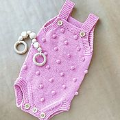 Одежда детская handmade. Livemaster - original item Bodysuit kid`s: Knitted Bodysuit 0-3months.. Handmade.