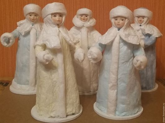 Новый год 2017 ручной работы. Ярмарка Мастеров - ручная работа. Купить Снегурочки в ассортименте. Handmade. Ватная игрушка, новогодний декор