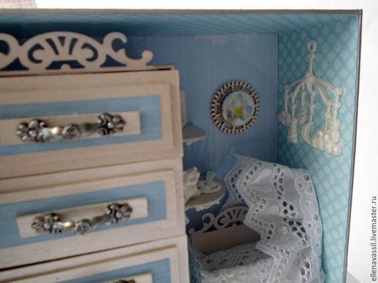 Шкатулки ручной работы. Ярмарка мастеров Елена Колегова. Шкатулка Мамины сокровища для мальчика в виде комнаты малыша.