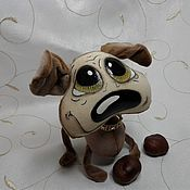 """Подарки к праздникам ручной работы. Ярмарка Мастеров - ручная работа Текстильная игрушка"""" Бульдог добрячок"""". Handmade."""
