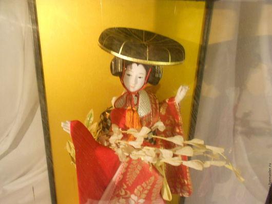 Винтажные куклы и игрушки. Ярмарка Мастеров - ручная работа. Купить Японская интерьерная кукла. Handmade. Коралловый, шёлк