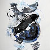 Картины и панно ручной работы. Ярмарка Мастеров - ручная работа Лететь в голубые дали, абстракция оригинал картина. Handmade.