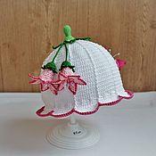 "Аксессуары handmade. Livemaster - original item Панамка для девочки ""Белый колокольчик"" - 2. Handmade."