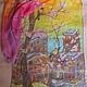 Шарфы и шарфики ручной работы. Шелковые шарфики. Творческая студия Ольги Лопаревой.. Ярмарка Мастеров. Шелк 100%, фиолетовый