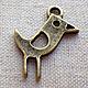 Фурнитура для создания украшений - подвеска птица, ворона. Цвет подвески - античная бронза. Подвеску можно использовать как аксессуар для игрушек. Размер птички 2х1,5 см