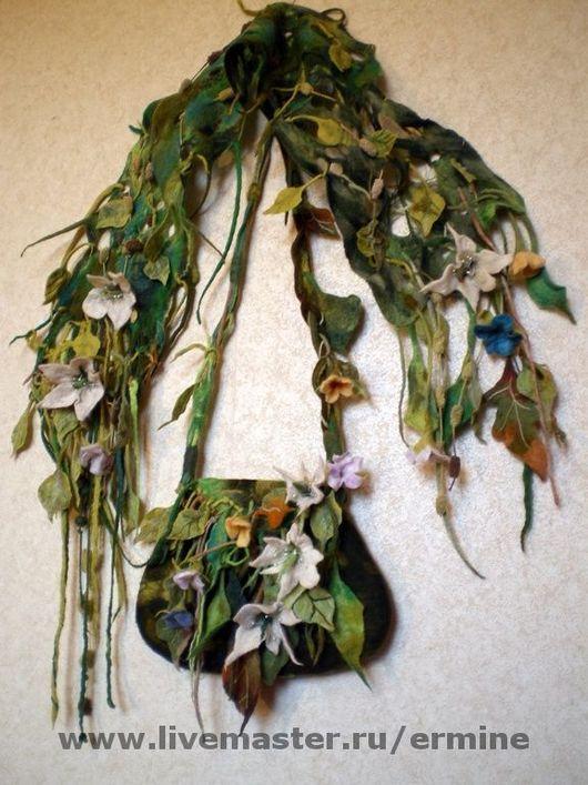 Handbags handmade. Livemaster - handmade. Buy Felt kit 'Spring grass'.Bag, original bag, handbag, summer bag