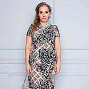 Одежда ручной работы. Ярмарка Мастеров - ручная работа Летнее платье из вискозного трикотажа 32076-1. Handmade.