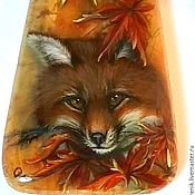 Украшения handmade. Livemaster - original item pendant / pendant with copyright miniature lacquer painted fox lars. Handmade.
