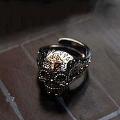 Украшения handmade. Livemaster - original item BJ Skull Ring of silver 925 jewelry brass. Handmade.
