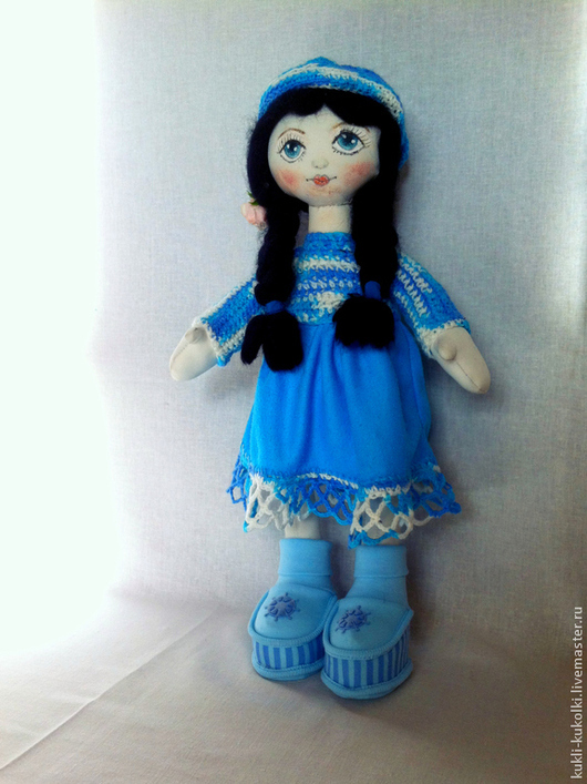 Куклы Тильды ручной работы. Ярмарка Мастеров - ручная работа. Купить Фаина. Handmade. Синий, текстильна кукла, тильда
