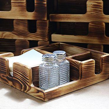Для дома и интерьера ручной работы. Ярмарка Мастеров - ручная работа Салфетницы: Салфетница+приборница (органайзер для ресторана). Handmade.