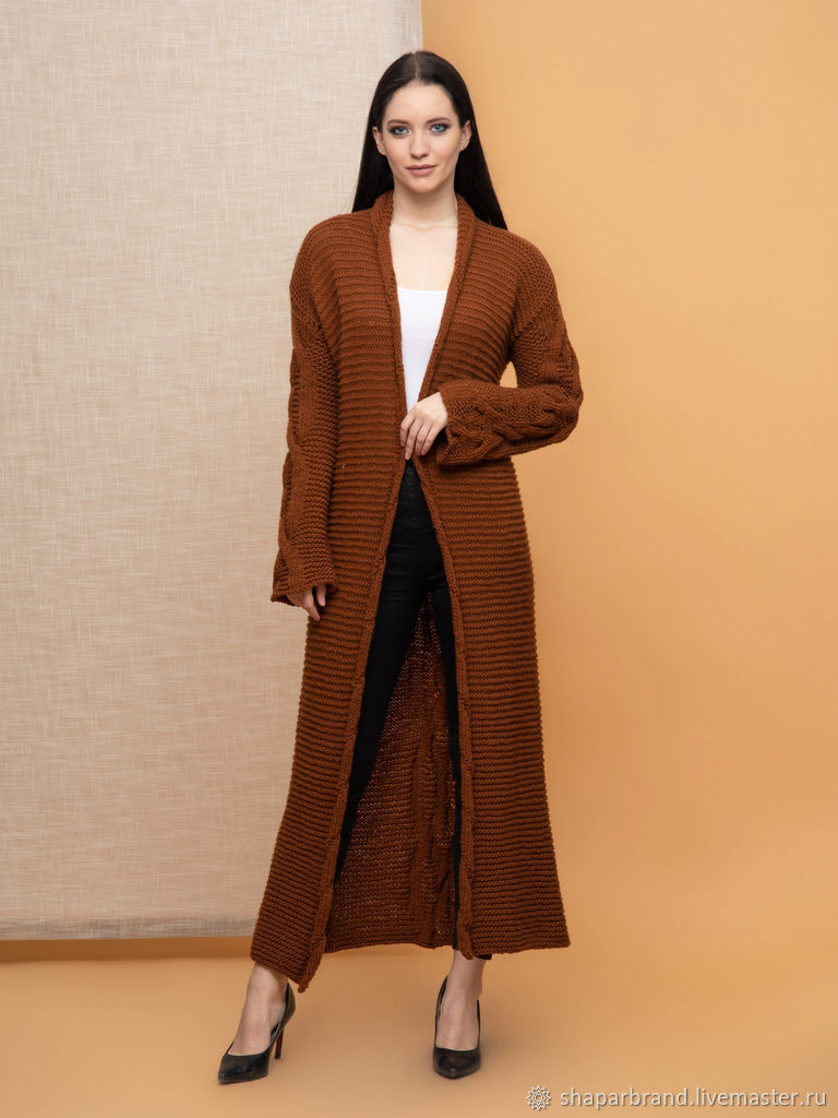 Brown Long Cardigan, Cardigans, Moscow,  Фото №1
