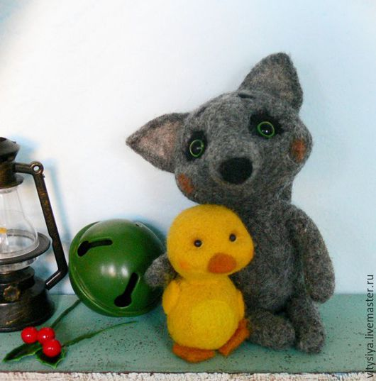 Игрушки животные, ручной работы. Ярмарка Мастеров - ручная работа. Купить новый год валяная игрушка Серый волчок. Handmade.
