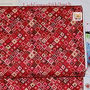 Материалы для творчества ручной работы. Ярмарка Мастеров - ручная работа Ткань мини отрез 20335  Бордовые ромбы (22х27см). Handmade.