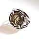 """Кольца ручной работы. Ярмарка Мастеров - ручная работа. Купить Серебряное кольцо """"Монетка"""". Handmade. Серебряное кольцо, монетка, подарок"""