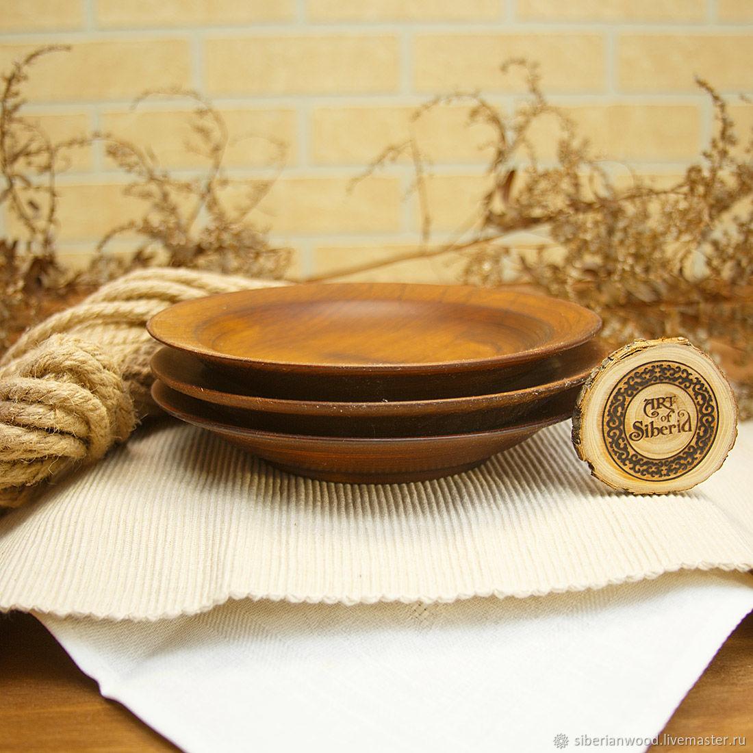 Set of wooden plates 3 PCs (19#41, Plates, Novokuznetsk,  Фото №1