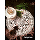 Текстиль, ковры ручной работы. Ярмарка Мастеров - ручная работа. Купить Салфетка 4,ажурная, кружевная, декор, интерьер, шебби шик.. Handmade.