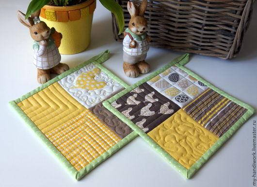 """Кухня ручной работы. Ярмарка Мастеров - ручная работа. Купить Прихватки """"Курочки"""". Handmade. Прихватка, подарок женщине, желтый"""
