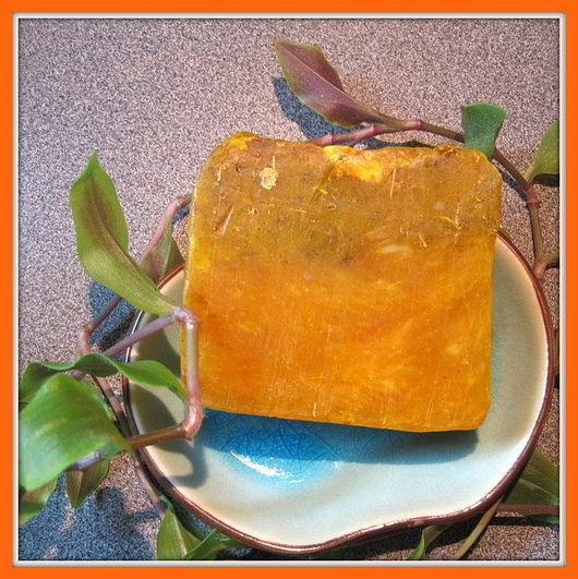 Мыло ручной работы. Ярмарка Мастеров - ручная работа. Купить мыло с нуля «Липовый мед». Handmade. Оранжевый, натуральное мыло