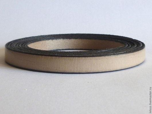 Для украшений ручной работы. Ярмарка Мастеров - ручная работа. Купить Кожаный шнур 10х2мм серo-бежевый светлый матовый. Handmade.